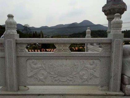 莲花台造型寺庙栏杆