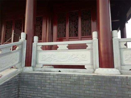 寺庙台阶栏杆