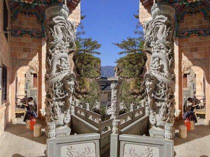 寺庙龙柱效果图