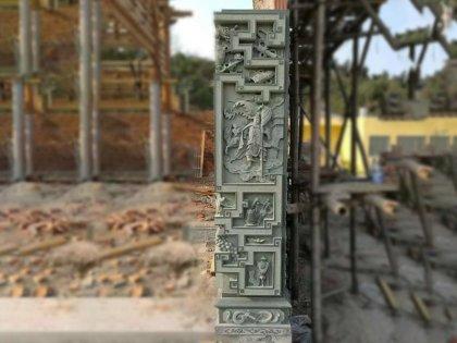 寺庙大理石龙柱