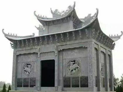 寺庙大理石亭子