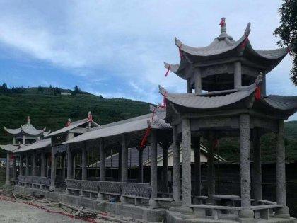 寺庙双层亭子