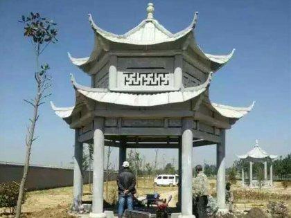 寺庙六角亭子