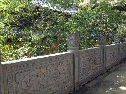 花岗岩方形柱寺庙栏杆