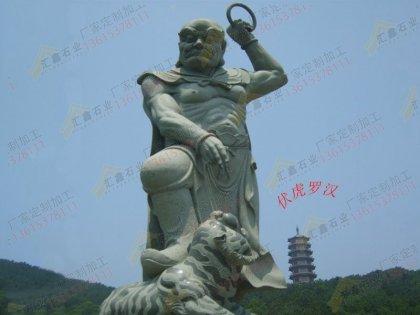 寺庙石雕十八罗汉像