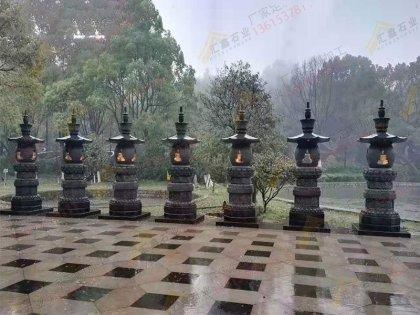 寺庙石雕花岗岩香炉