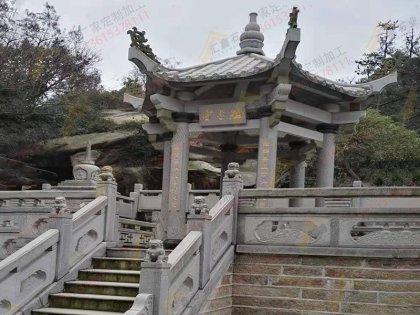 花岗岩六角寺庙凉亭
