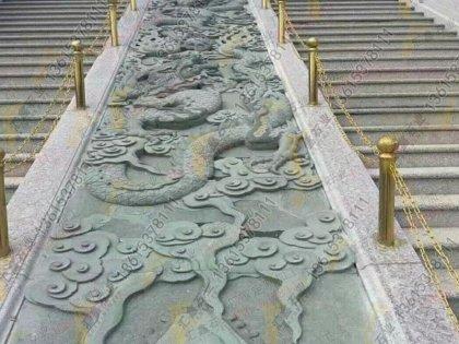 石材浮雕九龙壁