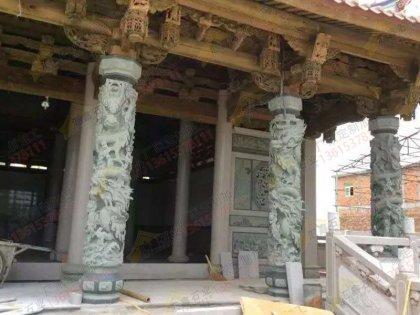 寺庙石雕龙柱订做厂家