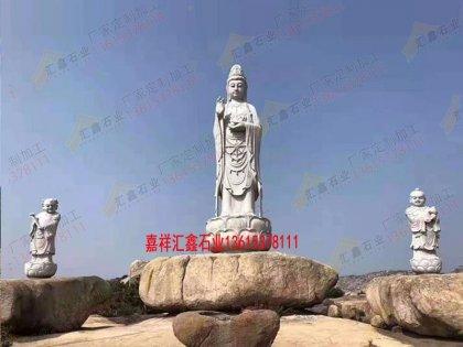 寺院雕刻观音石雕像