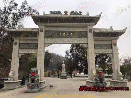 寺庙石雕牌坊