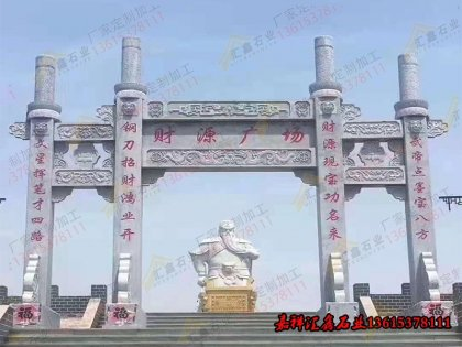 寺庙石雕单层石牌坊
